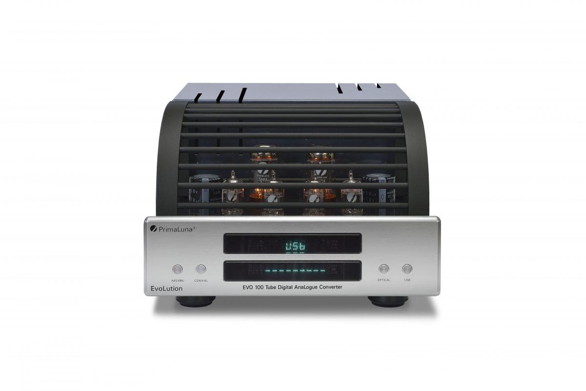 190b - PrimaLuna EVO 100 Tube Digital AnaLogue Converter - silver - front - white background