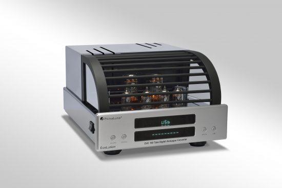 192 - PrimaLuna EVO 100 Tube Digital AnaLogue Converter - silver - slanted - gray gradient background